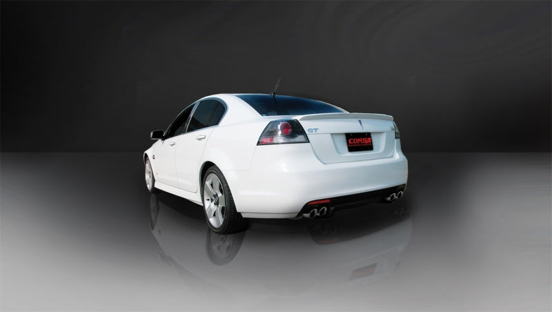 Corsa 08-09 Pontiac G8 GXP 6.0L V8 Polished Sport Cat-Back + XO Exhaust