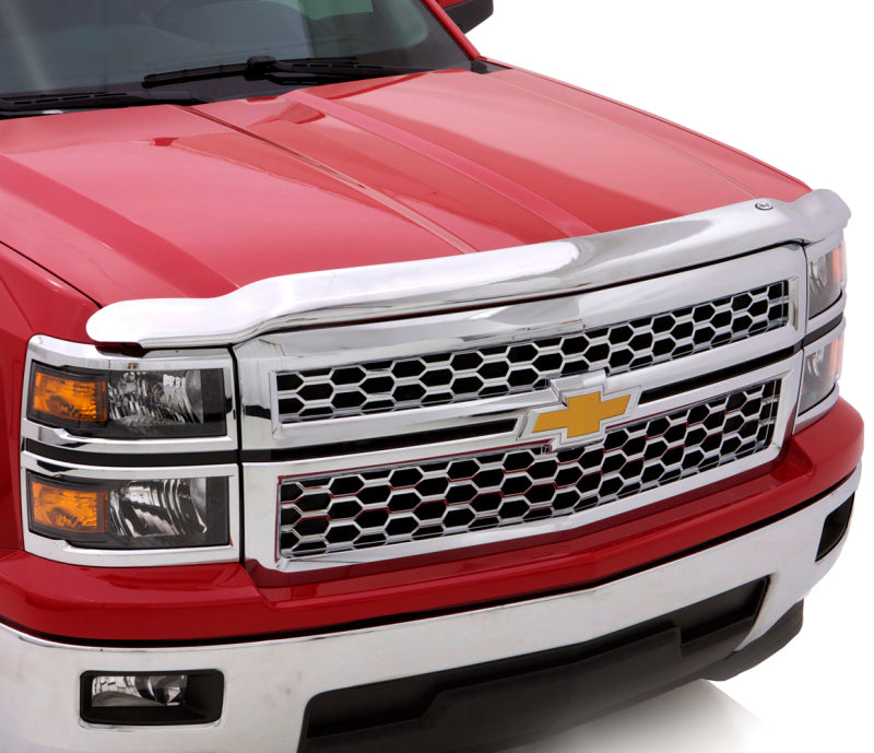 AVS 11-14 GMC Sierra 2500 High Profile Hood Shield - Chrome