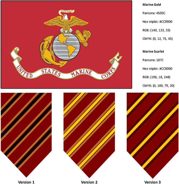 US Marine flag colors