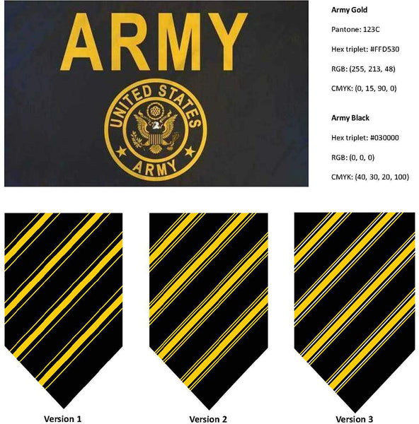 US Army Flag colors