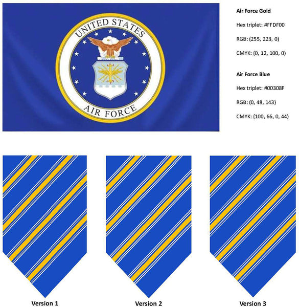 US Air Force flag colors