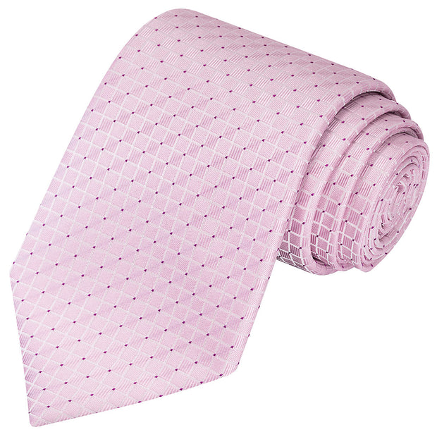Cinderella Pink Checkered Tie - Tie, bowtie, pocket square  | Kissties