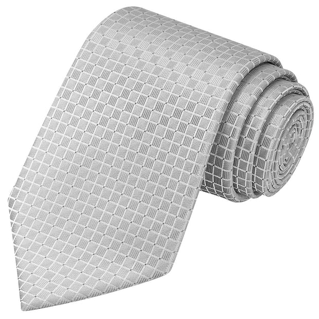 French Gray Checkered Tie - Tie, bowtie, pocket square  | Kissties