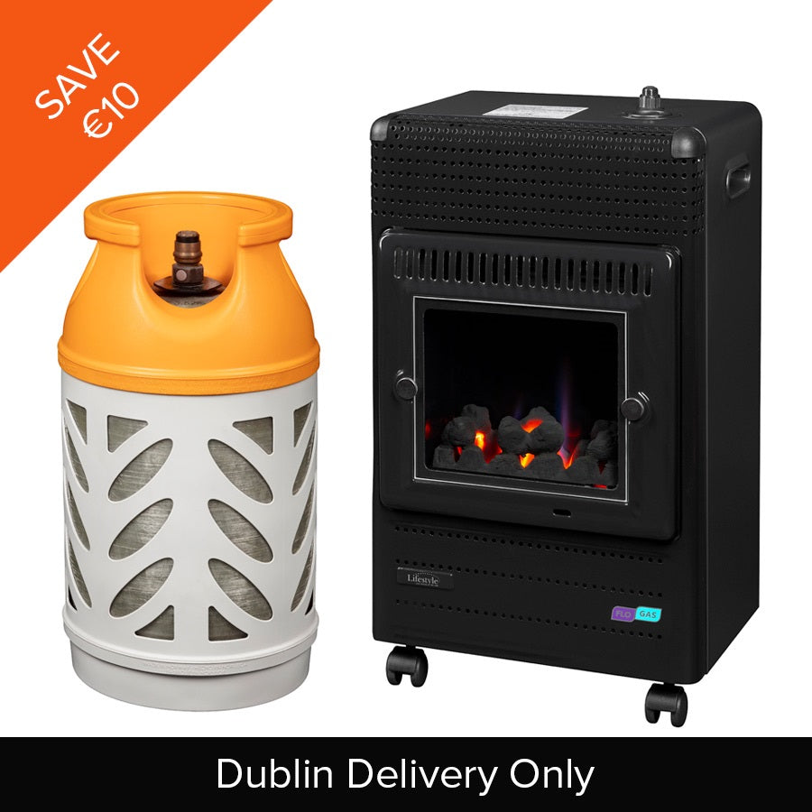 Living Flame Heater & Butane Gaslight 10kg (*Dublin Only)