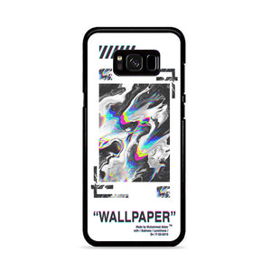 Off White Abstract White Aesthetics Wallpaper Samsung Galaxy S8 Case Casacases