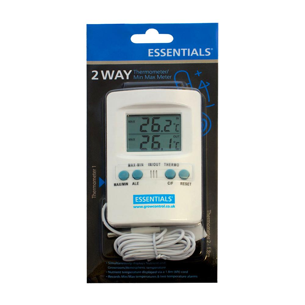 Essentials Digital 2 Way Thermometer Min Max Meter France