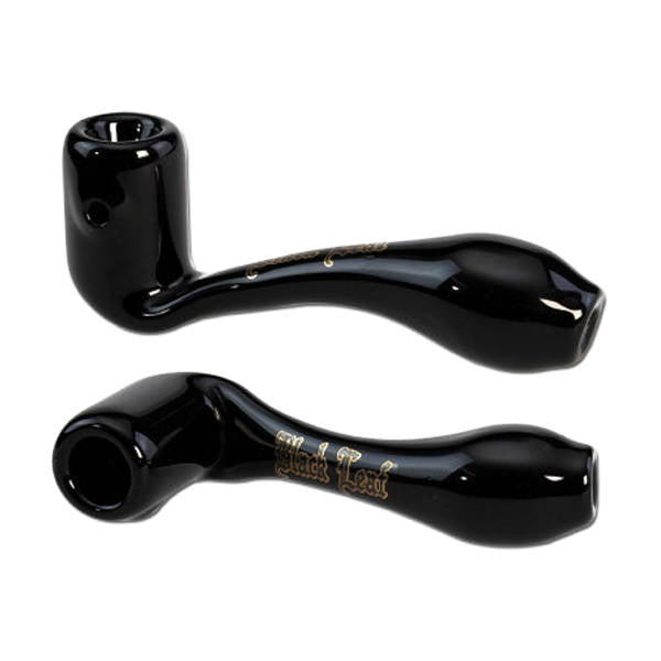 Near Dark 'Black Leaf' Glass Pure Pipe