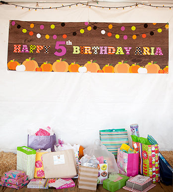 pumpkin birthday party banner