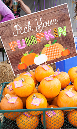 pick your pumpkin printable sign
