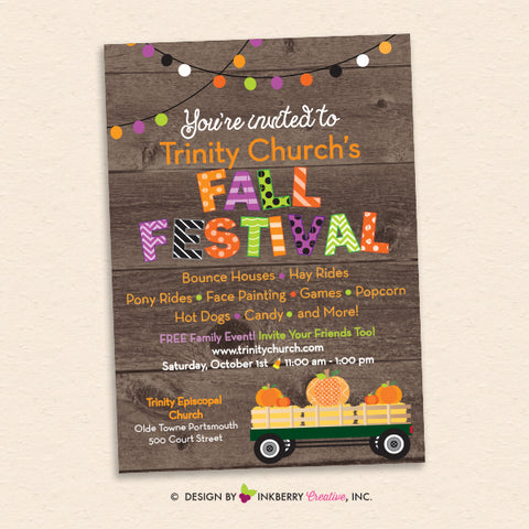 church fall festival poster invitation printable
