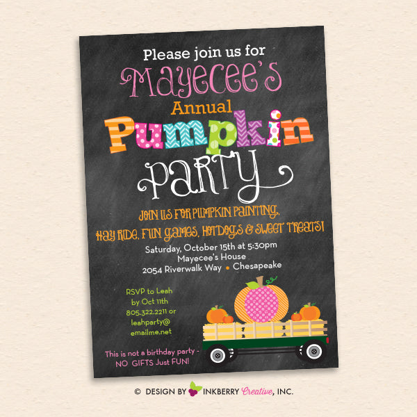 Favorite Fall Party Invitations Inkberry Creative Inc – Fall Birthday Party Invitations