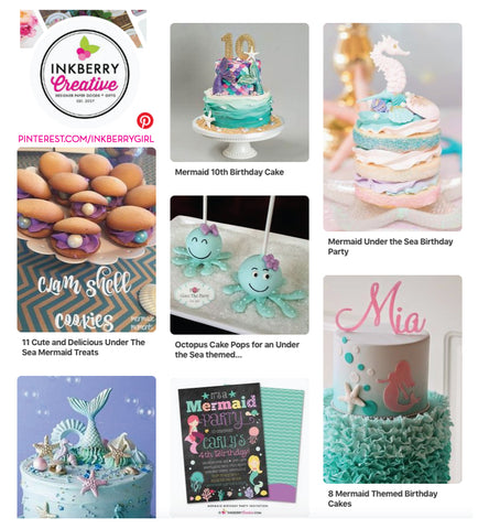 mermaid party ideas on pinterest by inkberrygirl inkberry cards inkberry creative