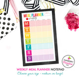 Easy Weekly Meal Planner Notepad - 2 Sizes Available - inkberrycards