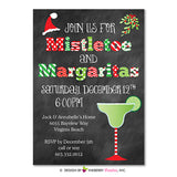 Mistletoe and Margaritas Christmas Party Invitation - inkberrycards