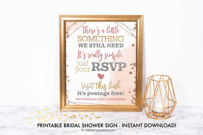 Bubbles and Brews Shower - RSVP Reminder Sign - Printable, Editable