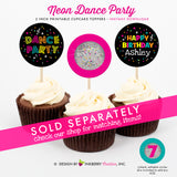 Neon Dance Birthday Party - DIY Printable Party Pack - inkberrycards