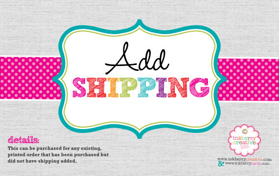 FedEx or UPS Priority Overnight Rush Shipping - inkberrycards