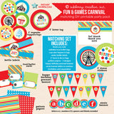 kids carnival birthday printable party