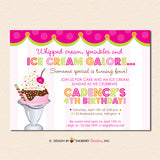 Sprinkles on Top, Ice Cream Sundae Birthday Party Invitation - Sprinkles, Sundae, Ice Cream Party Invite