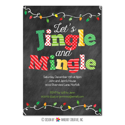Mingle and Jingle Christmas Lights Invitation