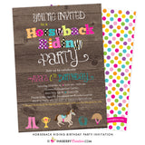 Horseback Riding Birthday Party Invitation - inkberrycards