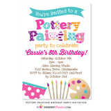 Pottery Painting Party Invitation - inkberrycards