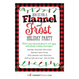 Flannel & Frost Holiday Party Invitation (White) - Christmas Party Invite, Plaid, Buffalo Check