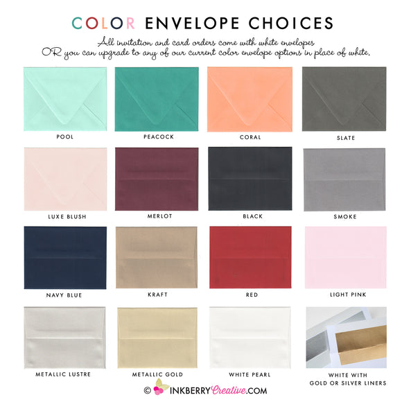 A7 Color Envelopes - inkberrycards