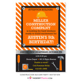 Little Builder Construction Birthday Party Invitation - inkberrycards