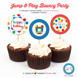 Jump and Play (Primary) - Printable Cupcake Toppers - Instant Download PDF File