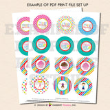 Gymnastics Birthday (Boy Girl) - Printable Cupcake Toppers - Instant Download PDF File