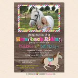 Horseback Riding Birthday Party Invitation (Photo Version)