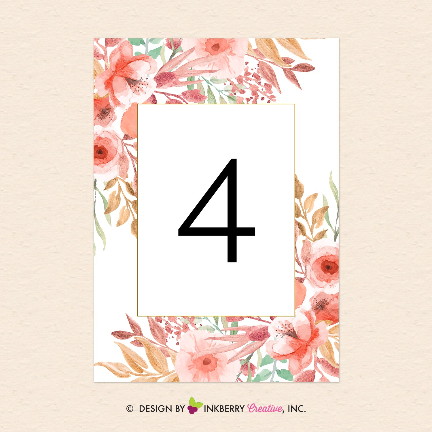 picture about Printable Wedding Table Numbers named Interesting Blooms - Watercolor Painted Floral Printable Wedding day Desk Amount Playing cards - Prompt Down load, Editable PDF - Edit with Adobe Reader