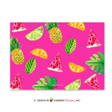 Tutti Frutti Birthday Invitation, Two-ty Fruity, Two-tti Frutti, Fruit Party Invitation - 2nd Birthday, Watermelon, Pineapple, Oranges, Lime - inkberrycards