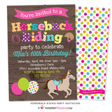 Horseback Riding Birthday Party Invitation (Wood) - inkberrycards