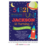 Outer Space Birthday Party Invitation - inkberrycards