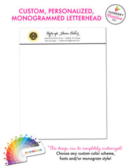 Custom Letterhead - Sophisticated Circle Monogram