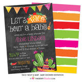 Taco 'Bout A Baby (Chalkboard Style) Baby Shower Invitation - inkberrycards