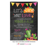 Taco 'bout Love - Couples, Coed, Taco, Mexican Theme Bridal Shower Invitation - inkberrycards