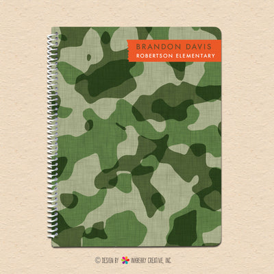 Cool Camo - Personalized Notebook - inkberrycards