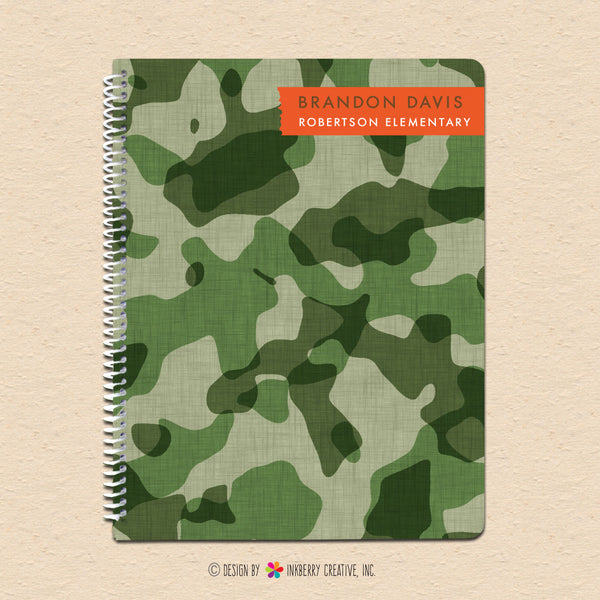 Cool Camo - Personalized Notebook