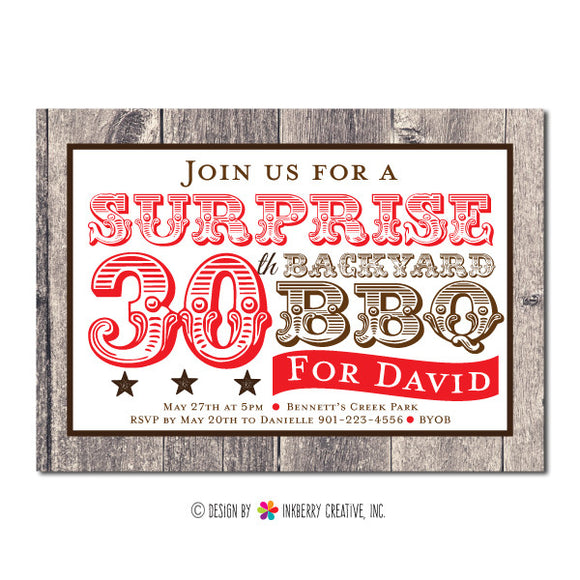 Backyard Barbecue Party Invitation