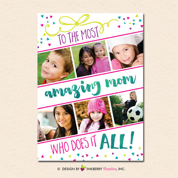 Super Mom - Mother's Day Photo Card - inkberrycards