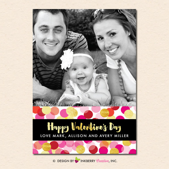 Confetti Love - Valentine's Day Photo Card