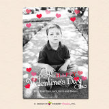 Hearts Shower Overlay - Valentine's Day Photo Card - inkberrycards