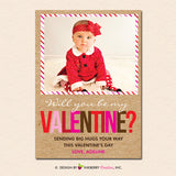 Be Mine Kraft Paper - Valentine's Day Photo Card