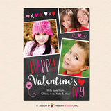 Chalkboard Doodles - Valentine's Day Photo Card