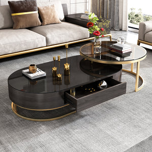 Super CX4 2021 Modern Wooden and Glass Coffee table