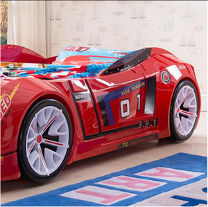 Luxurious ZX8 Car Kids Bed Frame Red