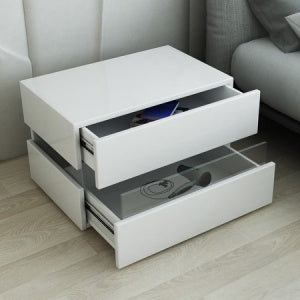 White Led Light side Table